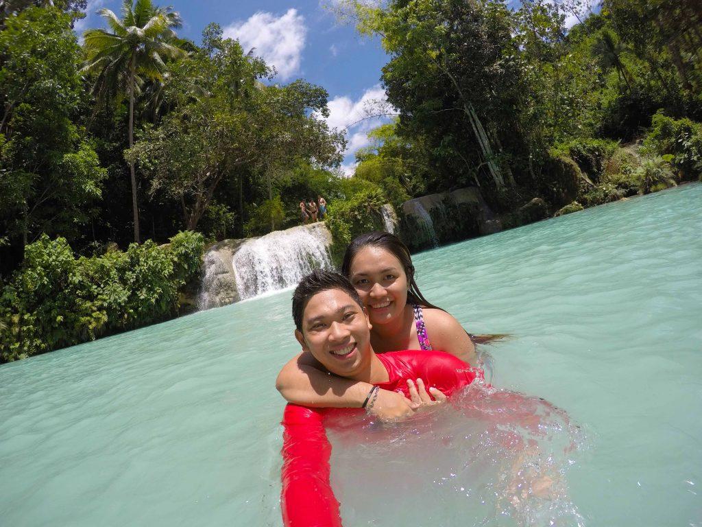 cambugahay falls siquijor selfie